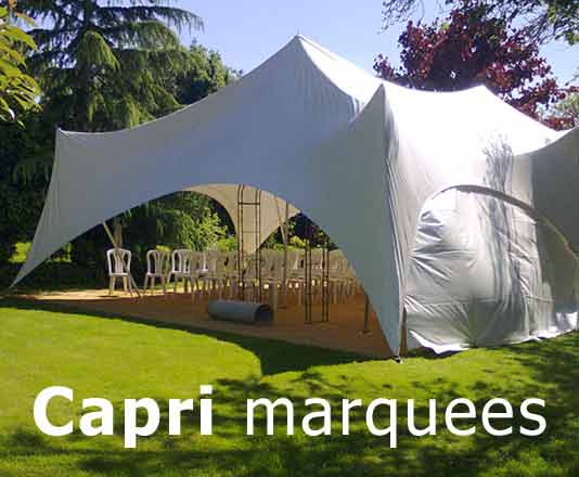 capri marquees models are great for wedding marquee hire