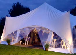 capri marquee 'enclosed' for night events