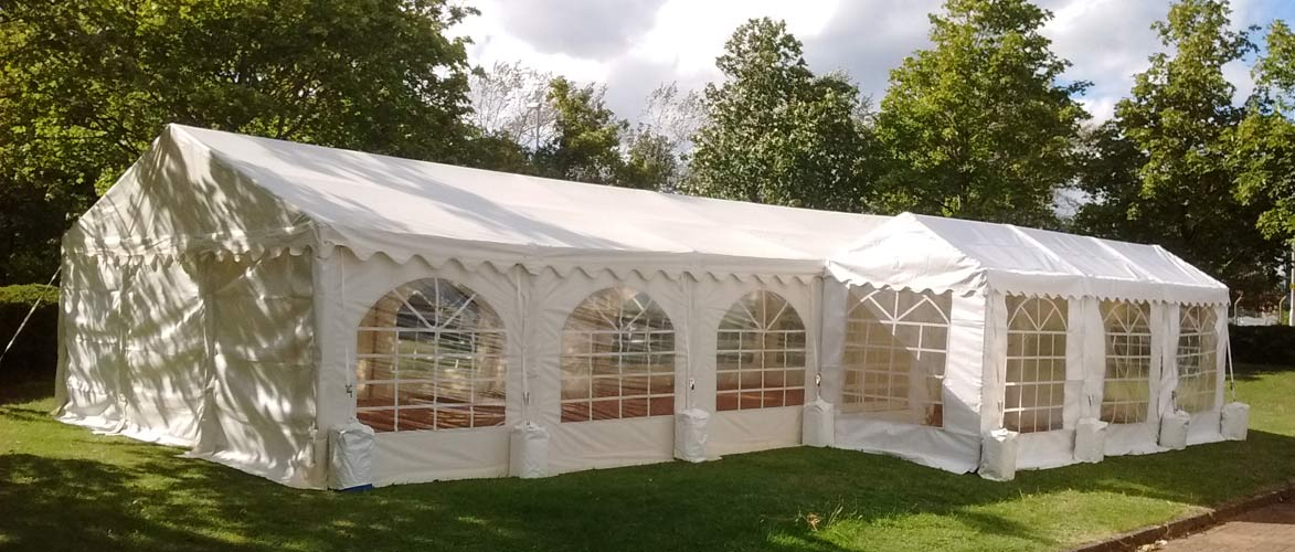 large party marquees in the gala style for events and functions