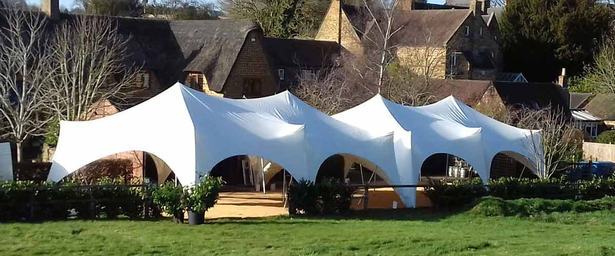 large wedding marquees in the capri style look elegant and very chic