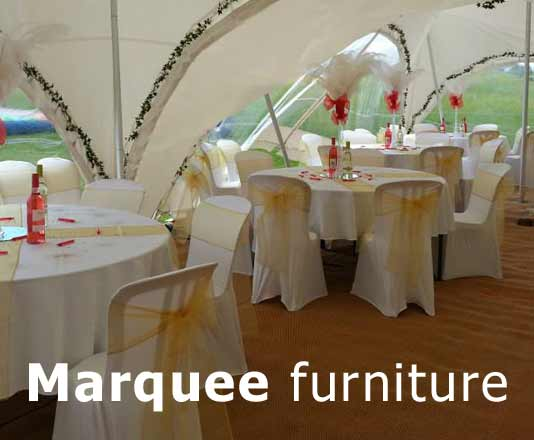 marquee furniture hire for wedding marquee