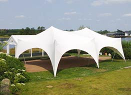 capri and gala marquees hired and erected together