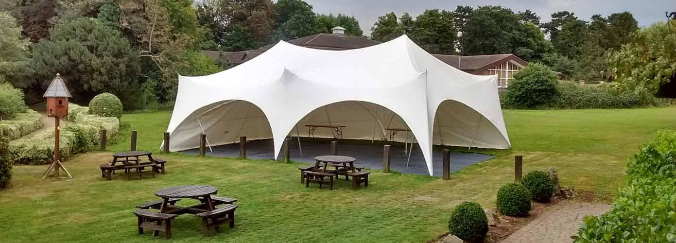country garden style marquees for hire in Northants